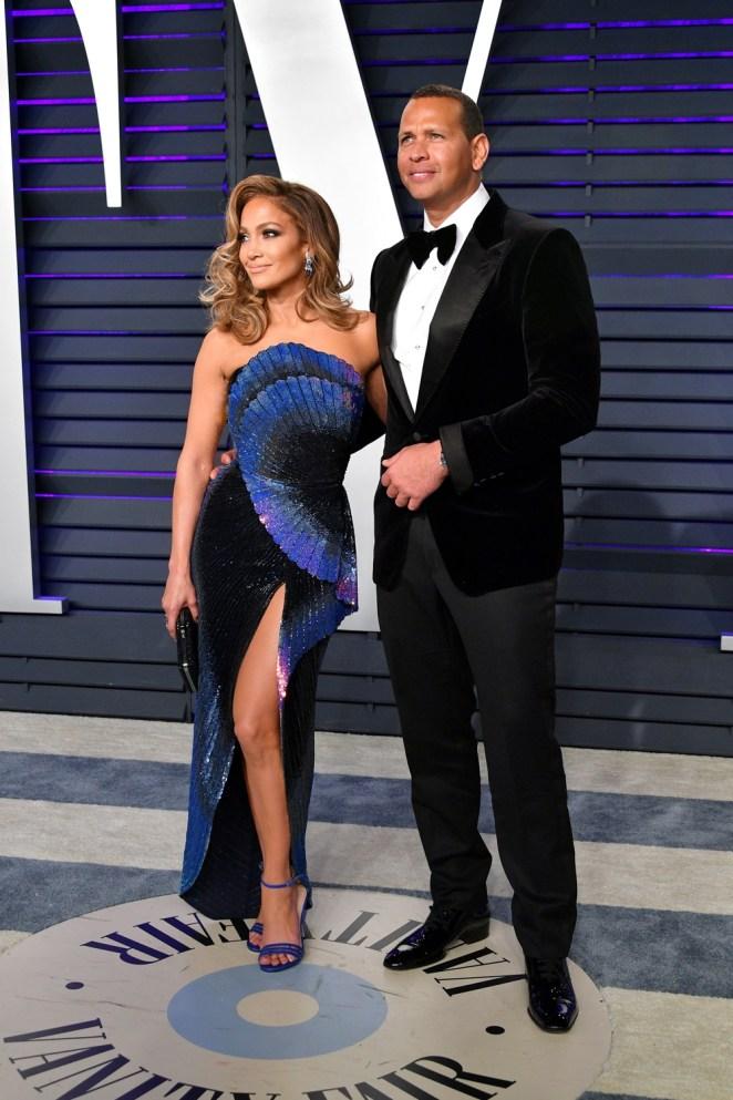 Jennifer Lopez and Alex Rodriguez 2019 Vanity Fair Oscar Party Hosted By Radhika Jones - Arrivals