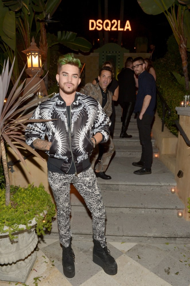Adam Lambert Dsquared2 Celebrates First Boutique In The USA With Pommery Champagne