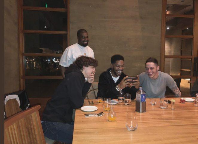 Pete Davidson, Kanye West, Timothée Chalamet and Kid Cudi Went to Dinner
