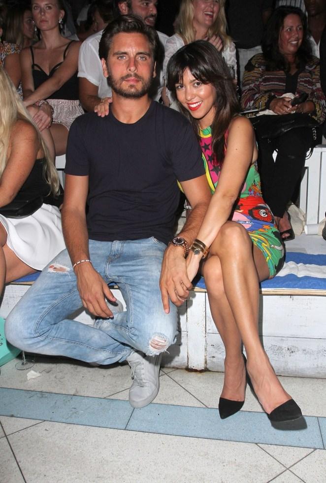 Kourtney Kardashian and Scott Disick Wildfox Swim Cruise 2014 - Front Row