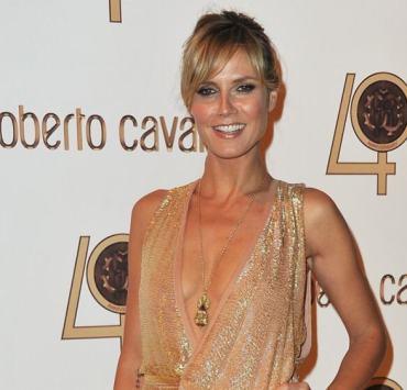 Heidi Klum Roberto Cavalli Party - Inside Photocall PFW Ready To Wear S/S 2011