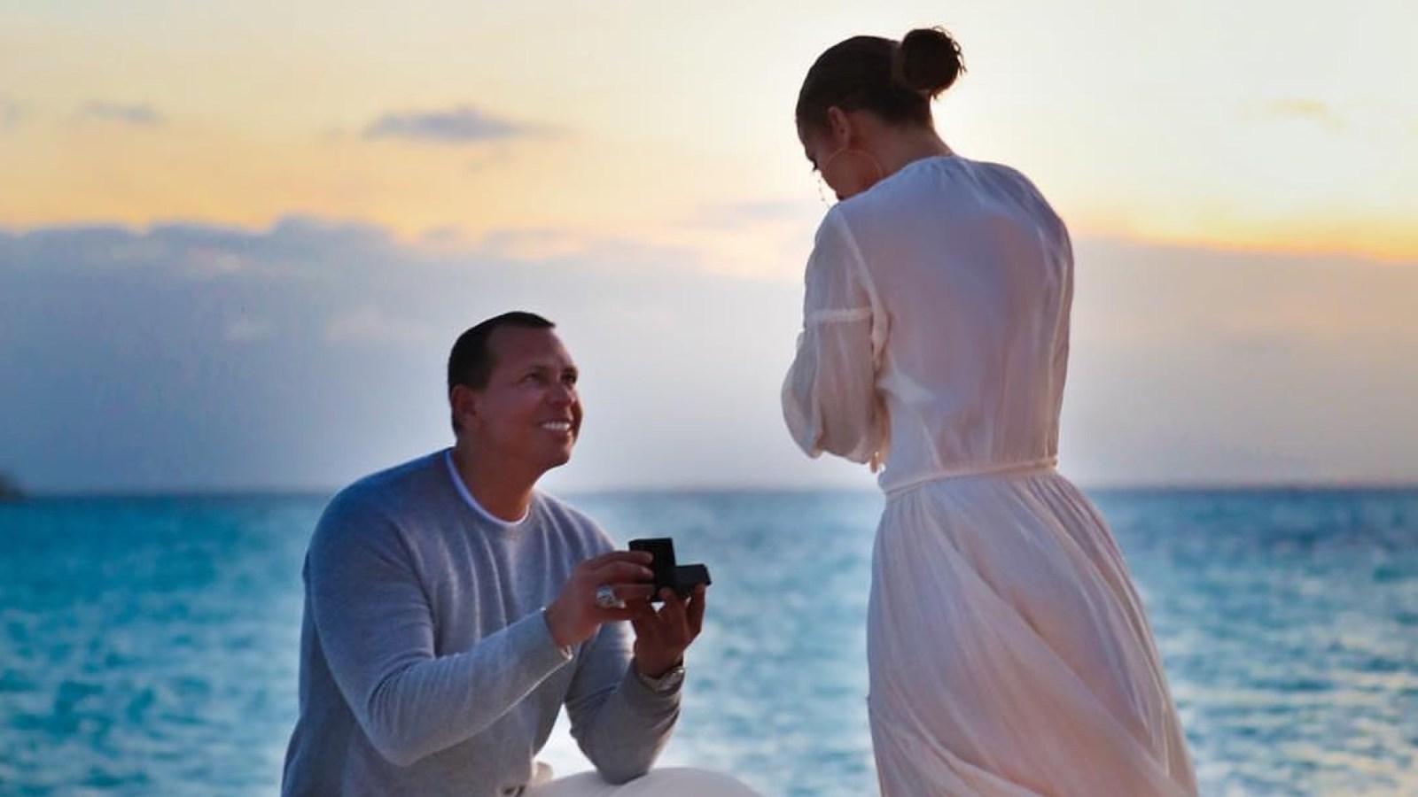 Jennifer Lopez and Alex Rodriguez proposal