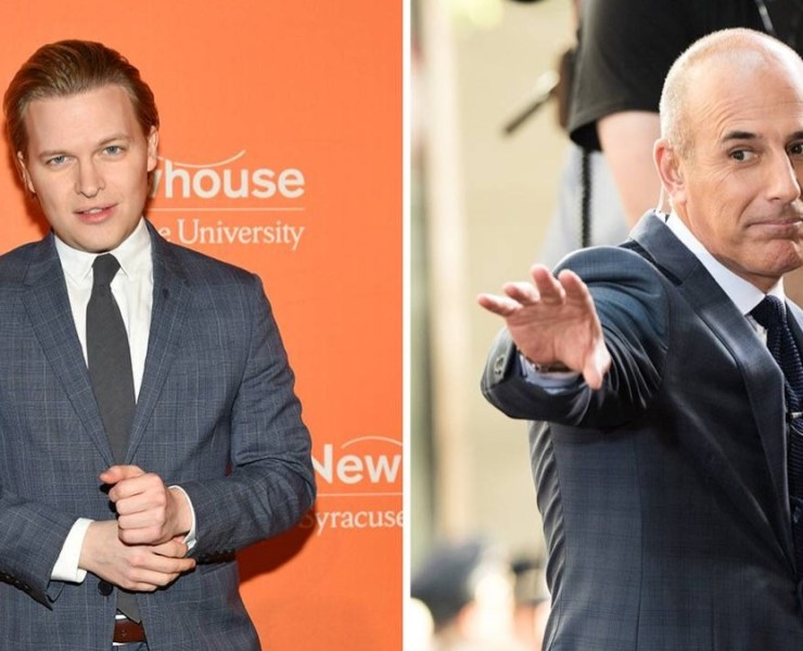 Ronan Farrow and Matt Lauer