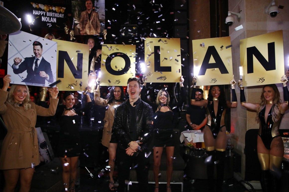 Nolan Gould Celebrates 21st Birthday at XS Nightclub at Wynn Las Vegas