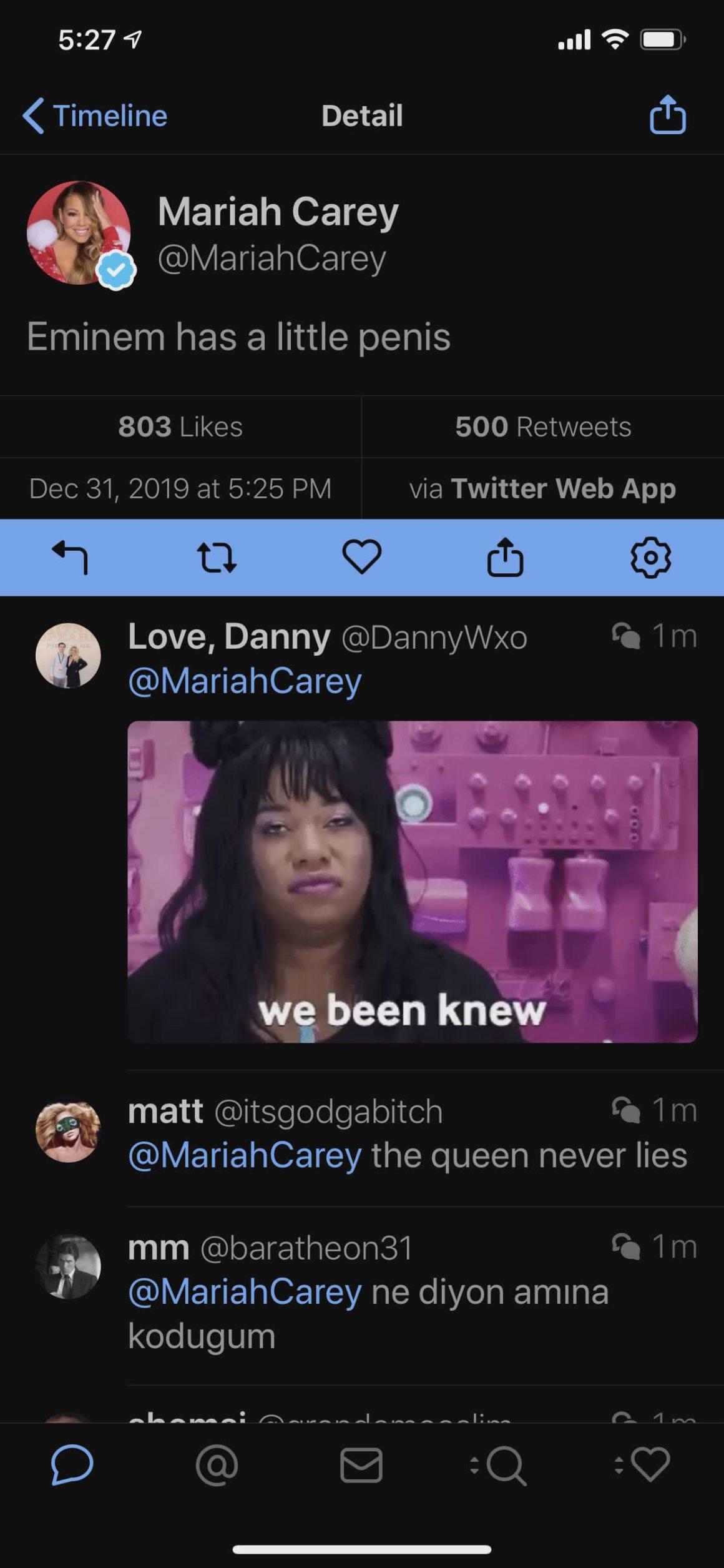 Mariah Carey Hacked Tweet