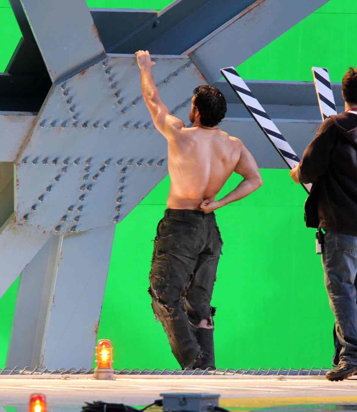 Henry Cavill On The Set Of 'Man Of Steel'