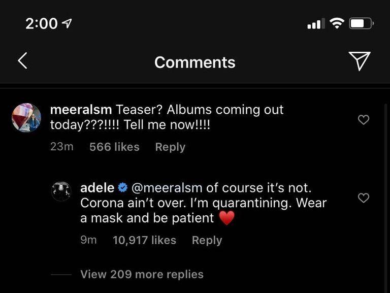 Adele Fan Comment