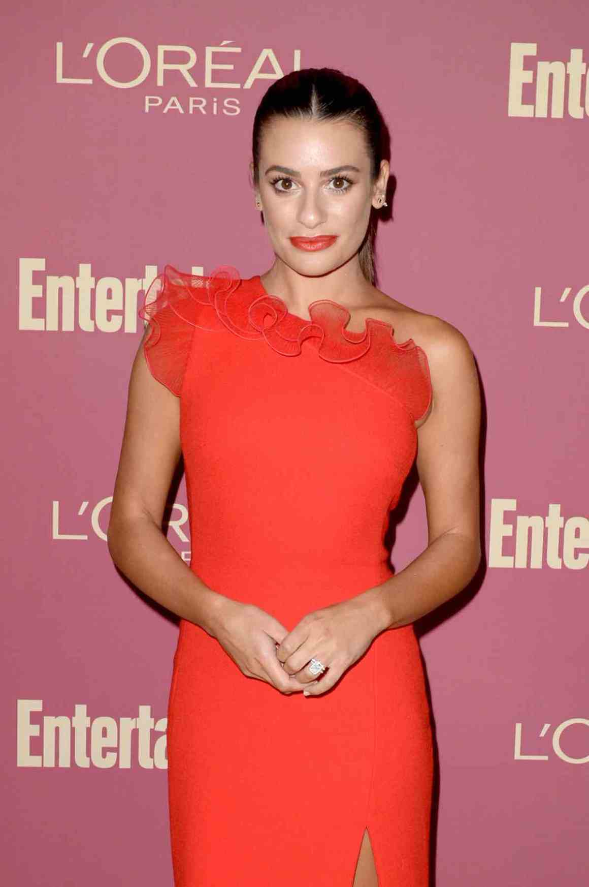 Lea Michele attends the Entertainment Weekly And L'Oreal Paris Hosts The 2019 Pre-Emmy Party - Arrivals