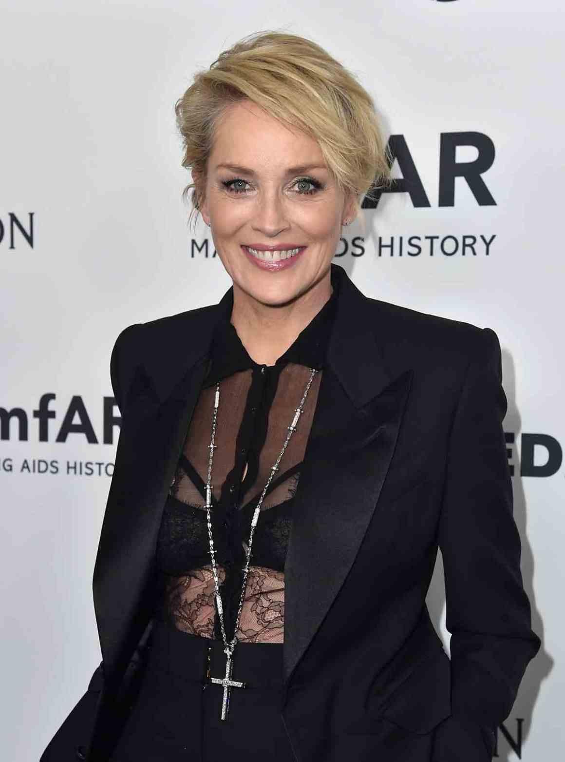 Sharon Stone amfAR's Inspiration Gala Los Angeles - Arrivals