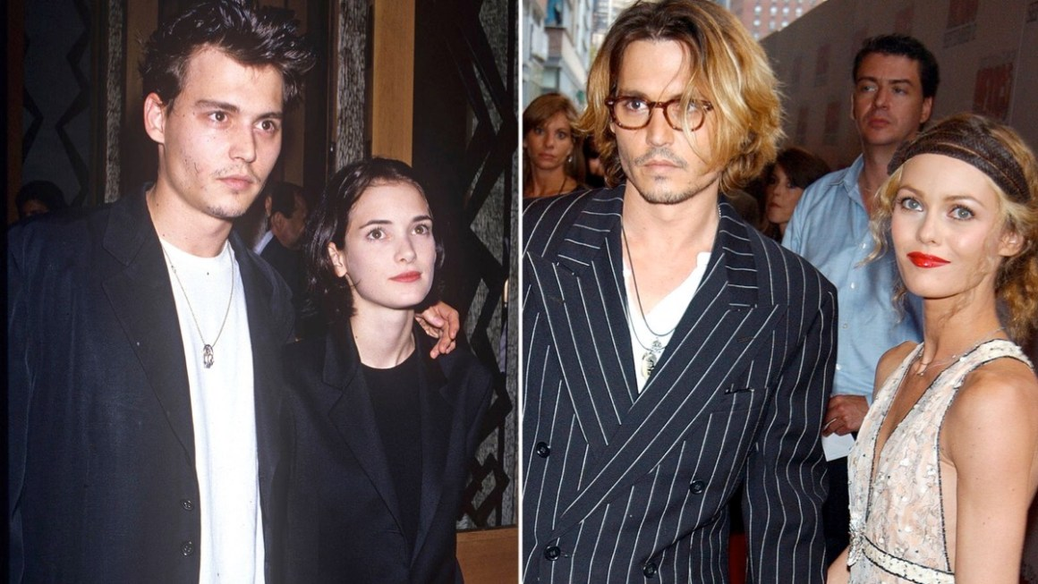 Winona Ryder and Vanessa Paradis and Johnny Depp