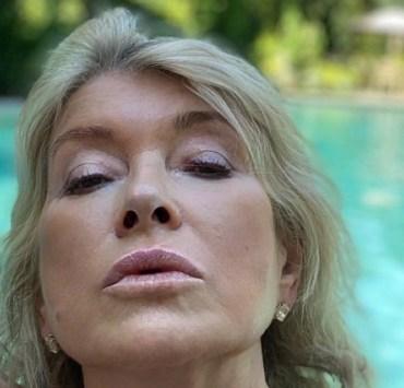 Martha Stewart's Thirst Trap Pool Selfie