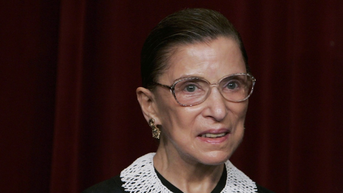 """Supreme Court Justice Ruth Bader Ginsburg Supreme Court Justices Pose For """"Class Photo"""""""