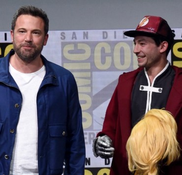 Ben Affleck and Ezra MillerComic-Con International 2017 - Warner Bros. Pictures Presentation