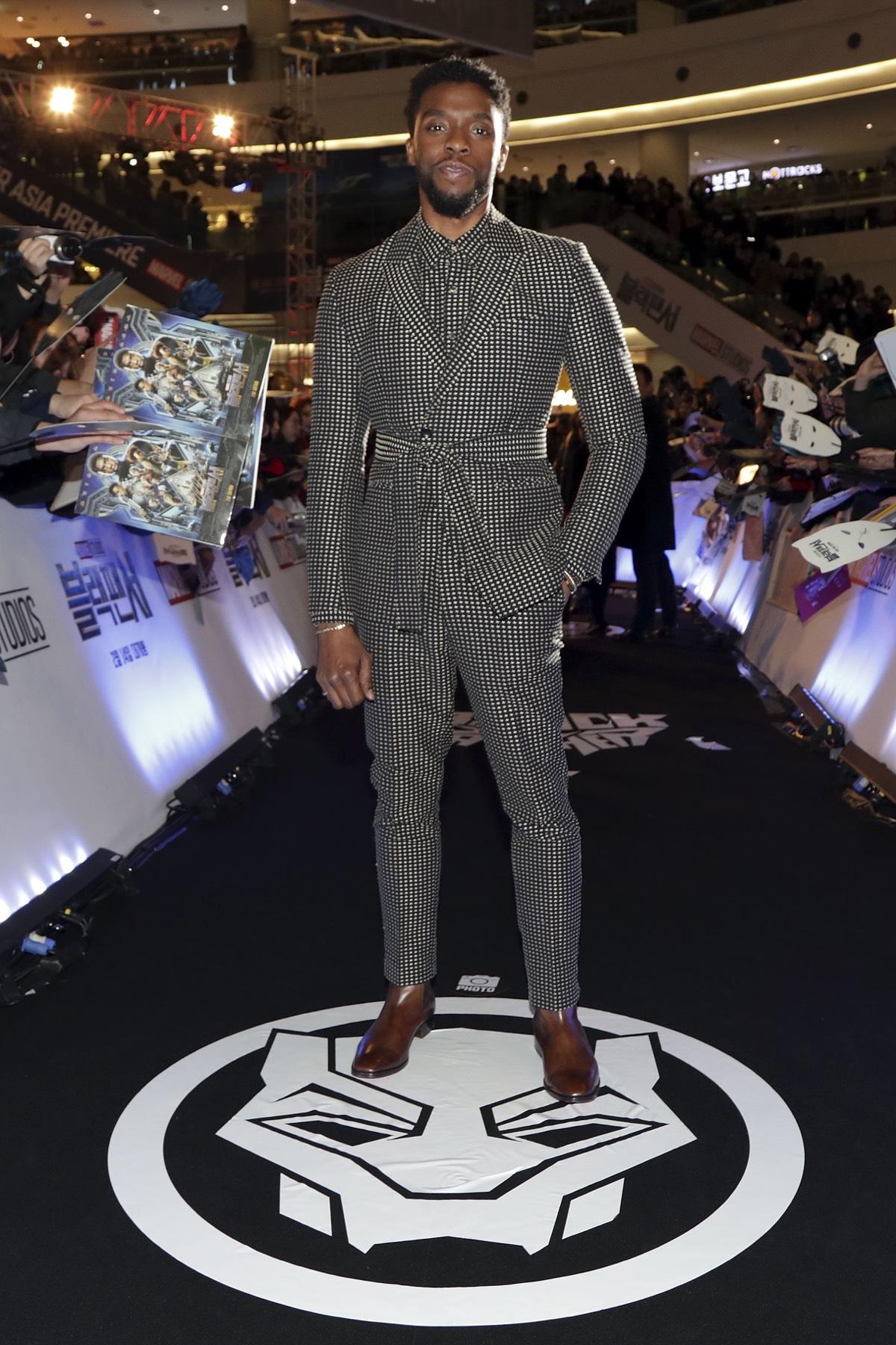 Chadwick Boseman 'Black Panther' Seoul Premiere - Red Carpet