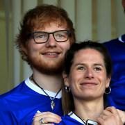 Ed Sheeran and Cherry Seaborn Ipswich Town v Aston Villa - Sky Bet Championship