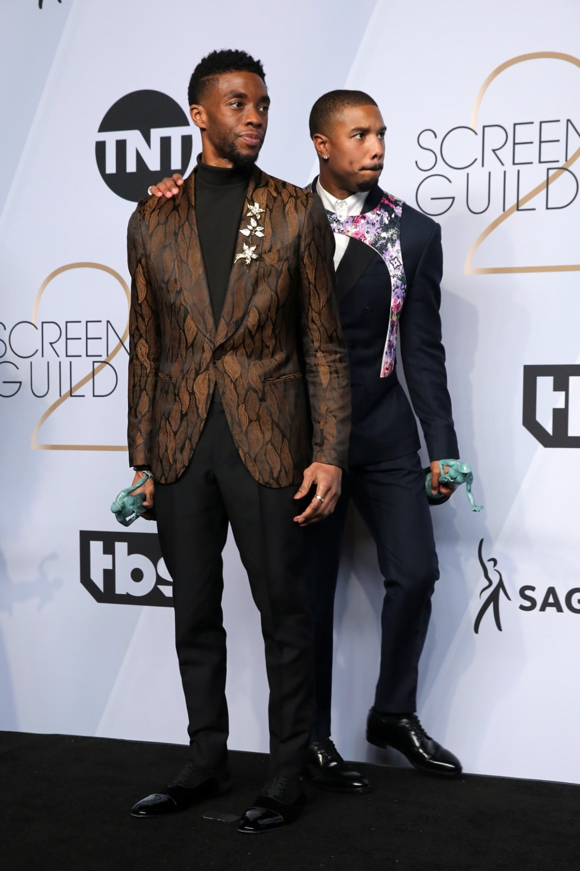 Chadwick Boseman and Michael B. Jordan 25th Annual Screen Actors Guild Awards - Press Room