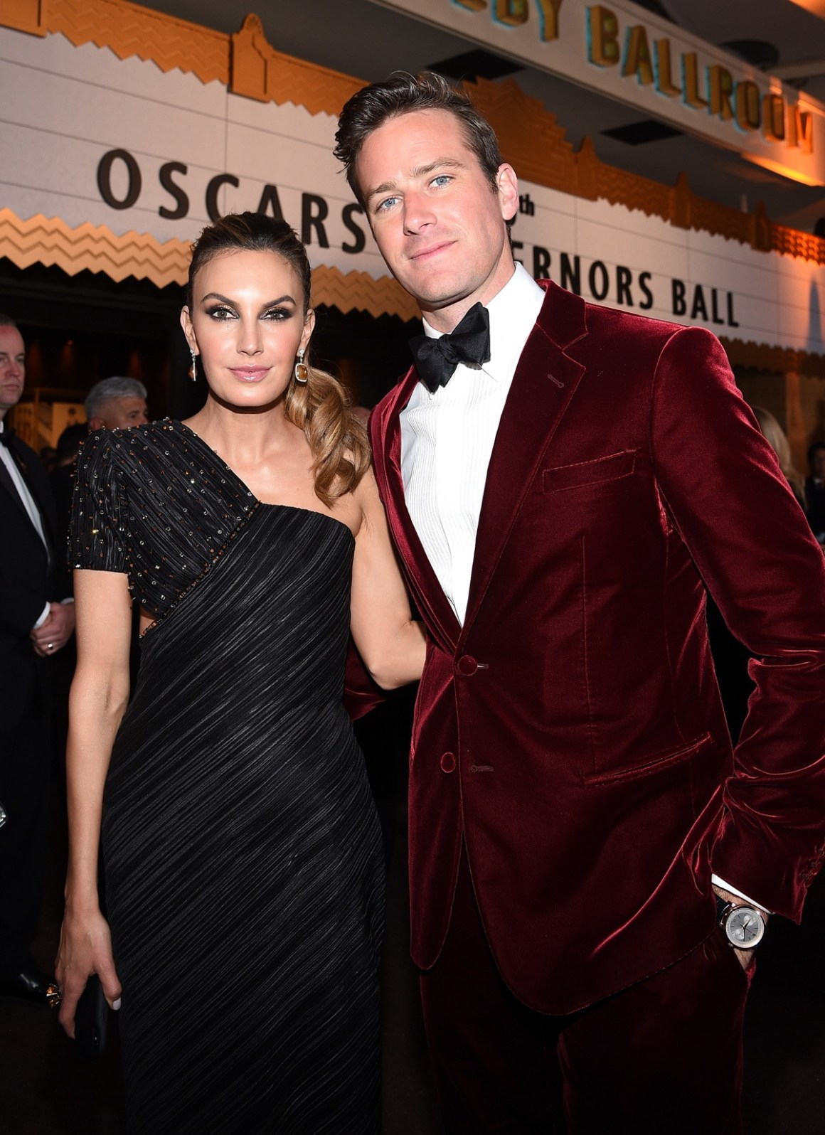 Elizabeth Chambers and Armie Hammer 90th Annual Academy Awards - Governors Ball