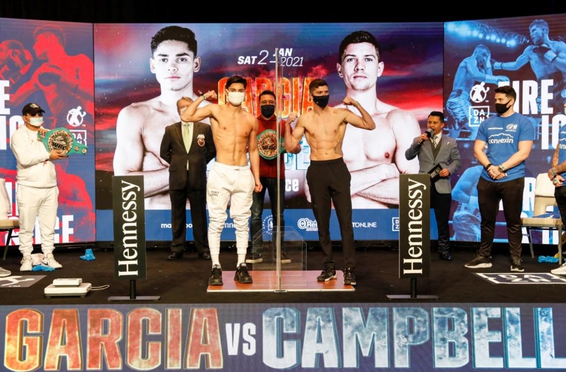 Ryan Garcia v Luke Campbell - Weigh In