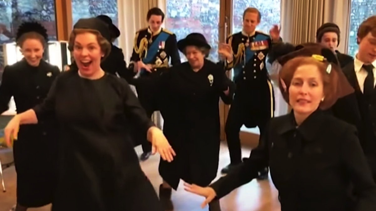 The Crown cast dances to Lizzo