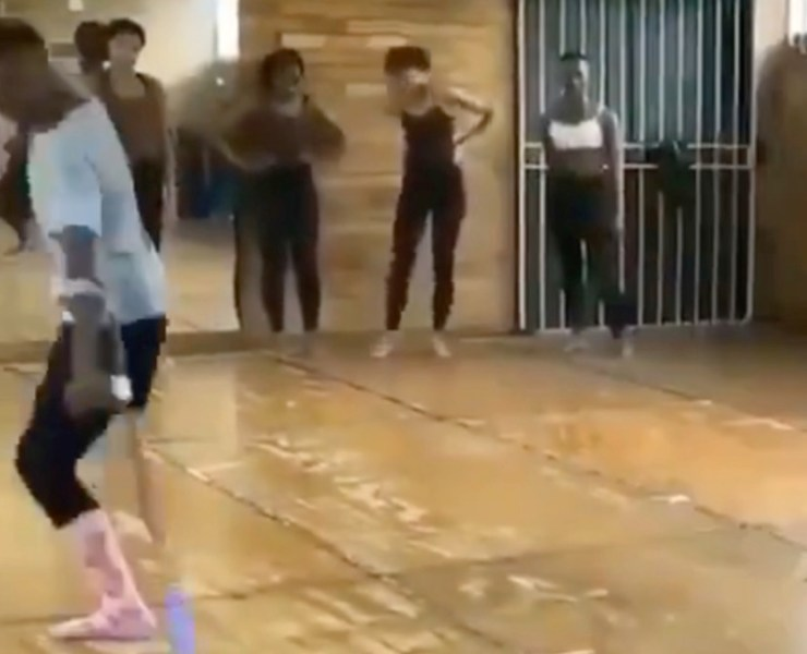 This dancer has got some mad skills