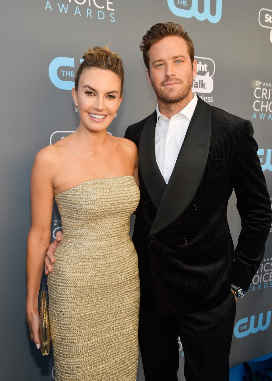 Elizabeth Chambers and Armie Hammer The 23rd Annual Critics' Choice Awards - Red Carpet