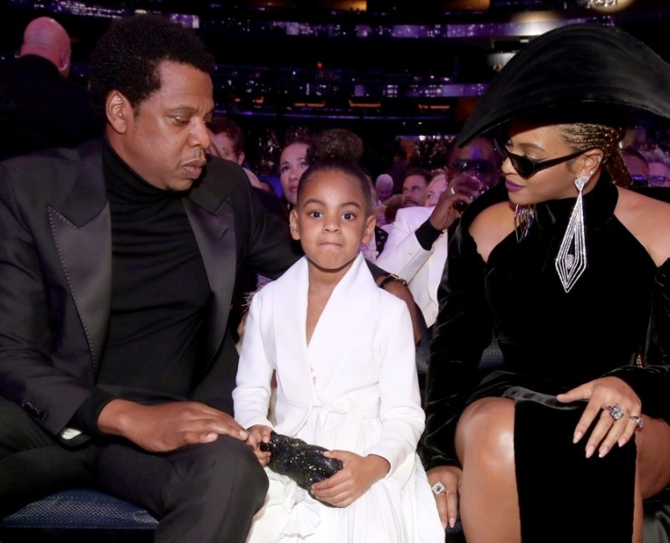 Jay Z Blue Ivy Carter and Beyonce 60th Annual GRAMMY Awards - Show