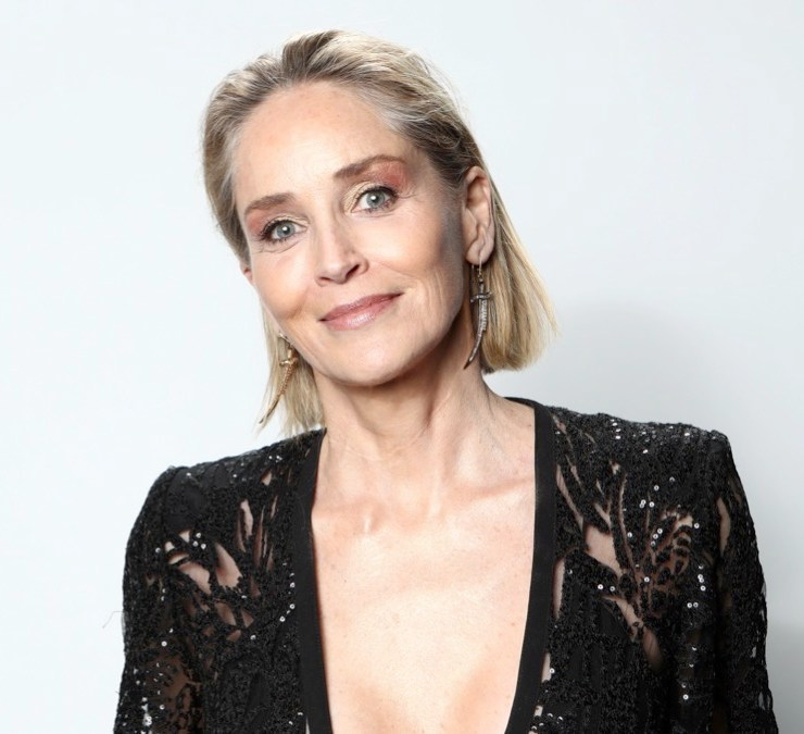 Sharon Stone IMDb LIVE Presented By M&M'S At The Elton John AIDS Foundation Academy Awards Viewing Party