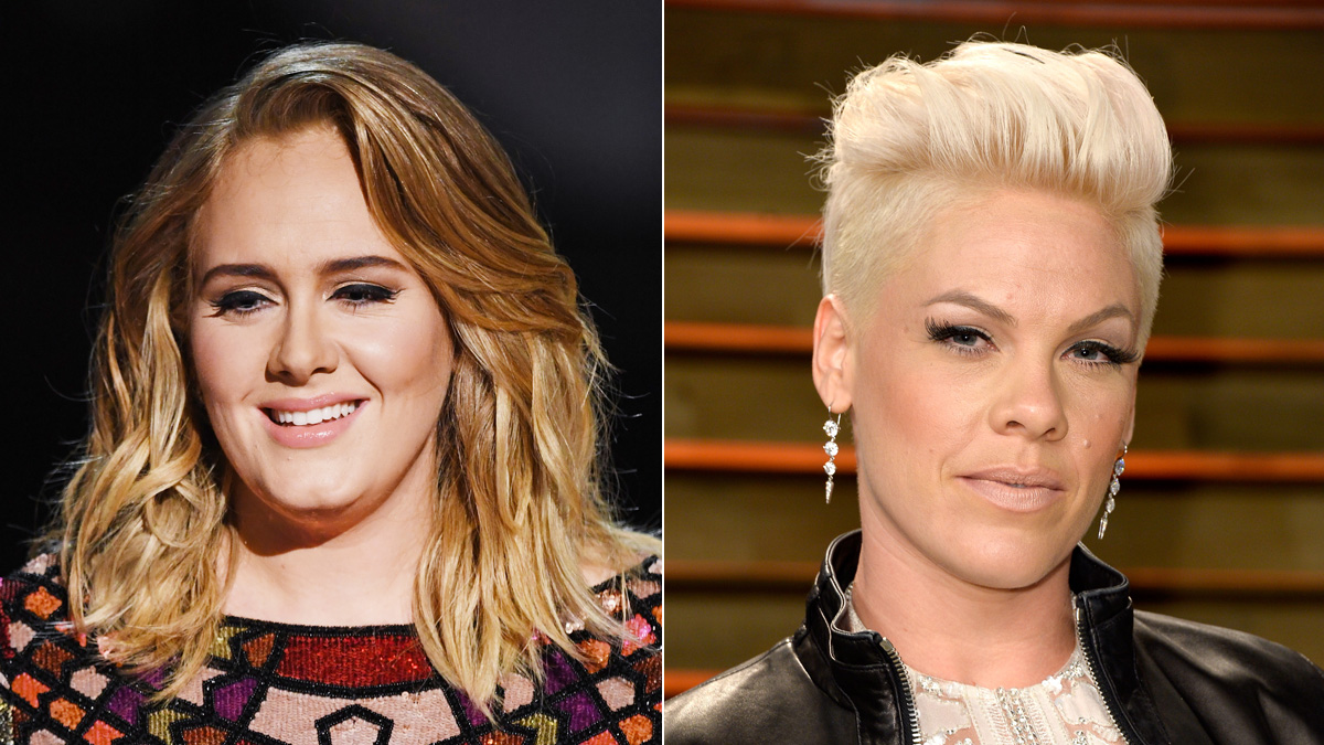 Adele and Pink