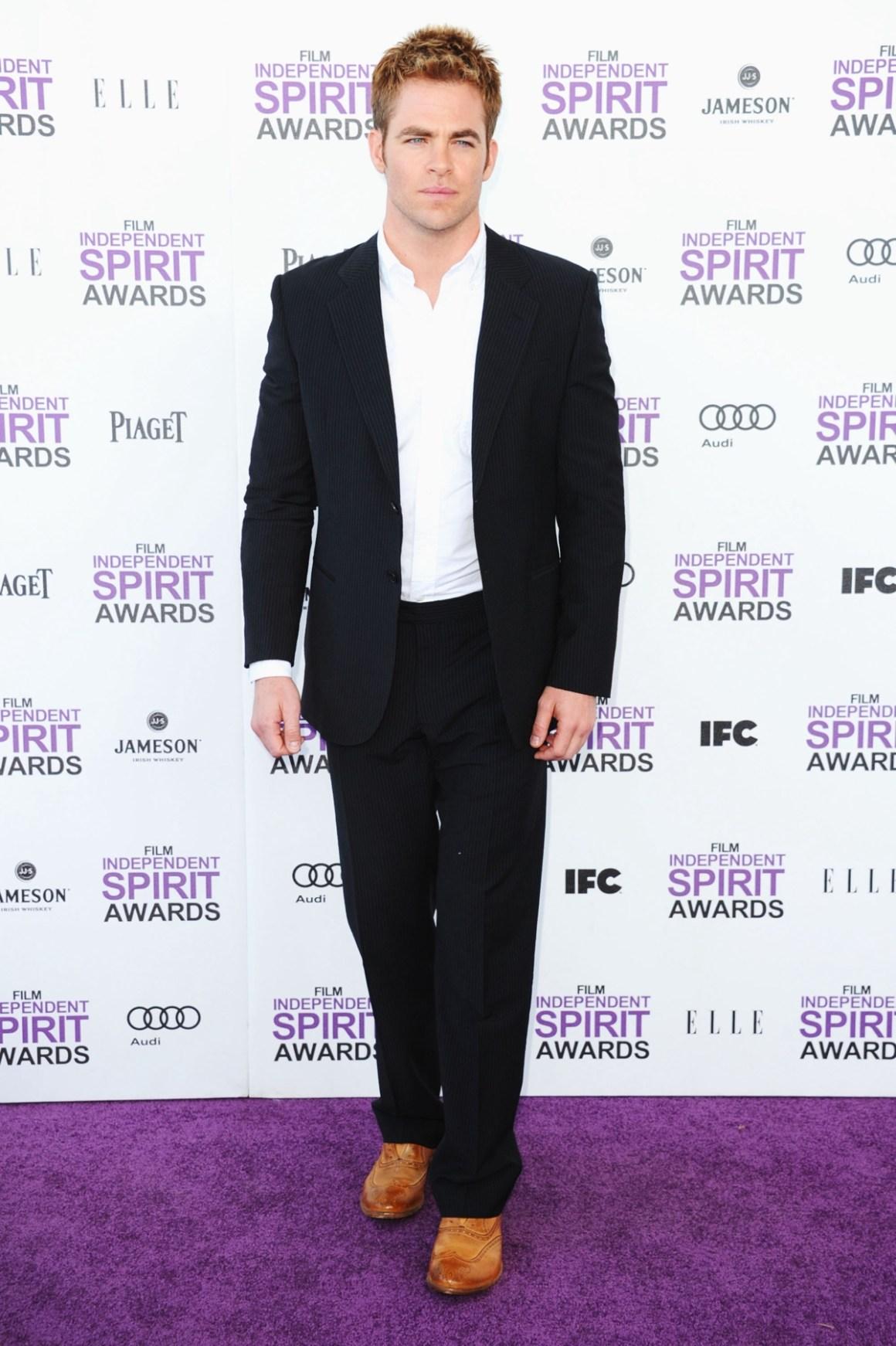 Chris Pine 2012 Film Independent Spirit Awards - Arrivals