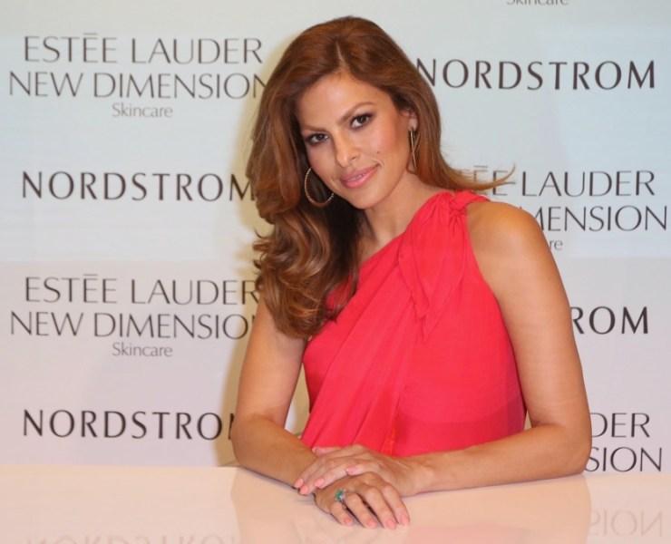 Eva Mendes launches Estee Lauder New Dimension Skincare At Nordstrom Aventura