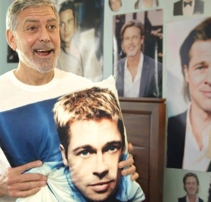 George Clooney is a Brad Pitt super-fan in hilarious Omaze fundraising video