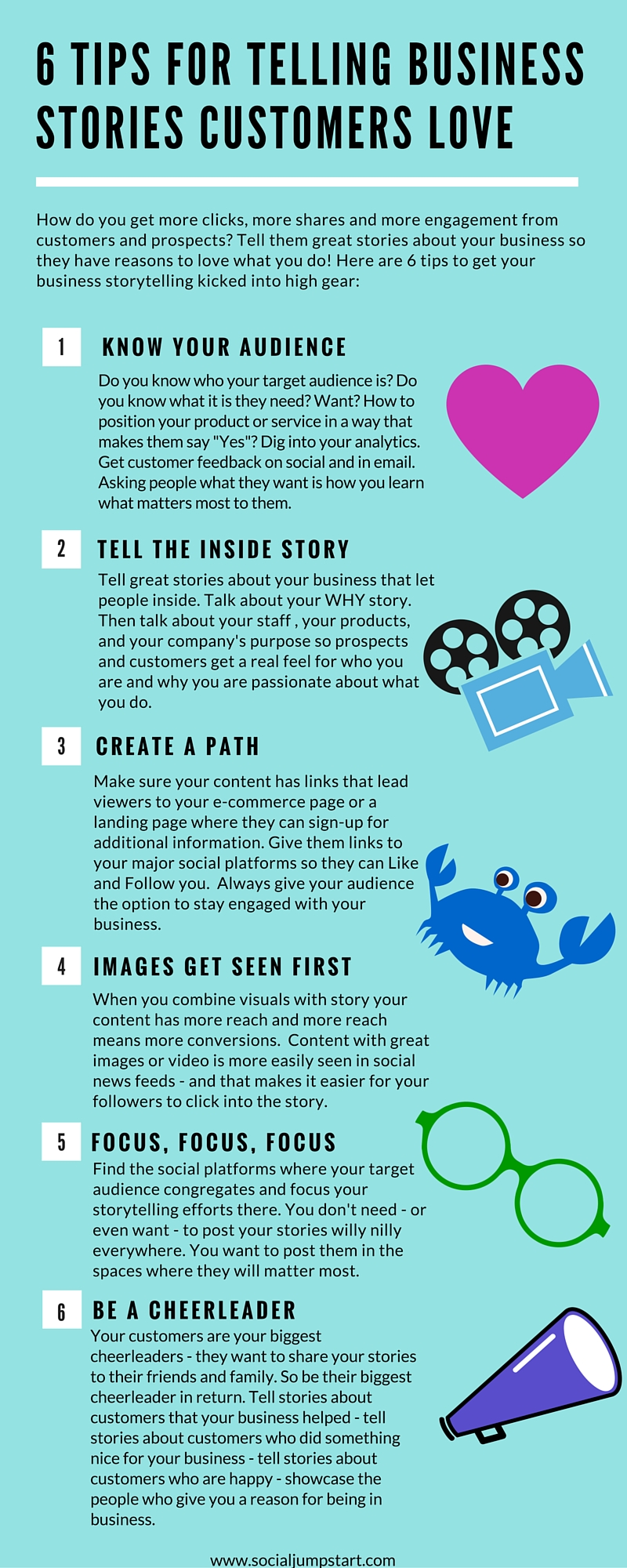 6 Tips for Telling Business Stories Customers Love [Infographic]