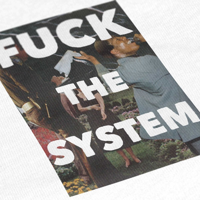 Social Living_Close-Up T Shirt Mockup_Fuck The System