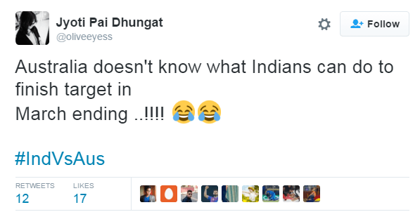 Social media reacted after the victory of India against Australia
