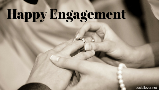 happy engagement image with quotes