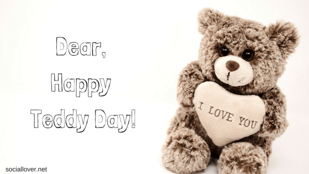 Happy teddy bear day pictures with love