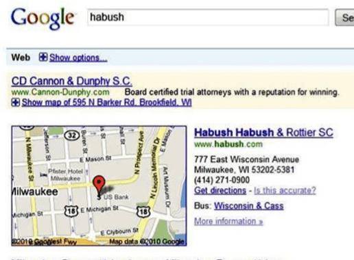 Habush competitive keyword ad 2