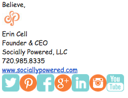 Socially Powered Email Signature