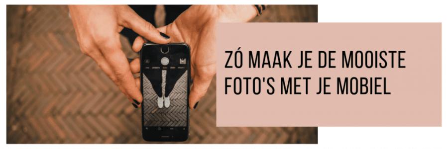 foto maken met mobiele telefoon