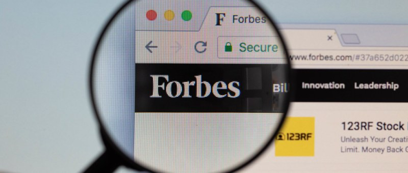 Featured in forbes