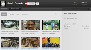 Sri Lankan Politicians on YouTube - Sarath Fonseka's YouTube page