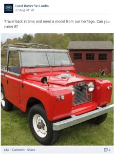 Land Rover Sri Lanka Facebook