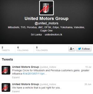 United Motors Group Twitter