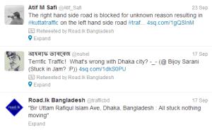 Road.lk Bangladesh trafficbd Twitter