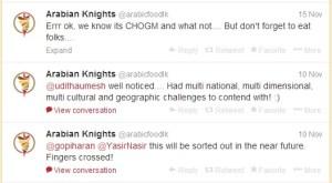 Arabian Knights Twitter