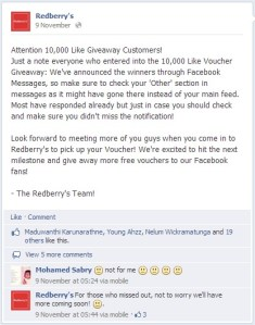 Redberry Restaurant Facebook