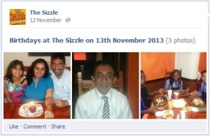 The Sizzle Facebook