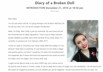 Diary of a broken doll