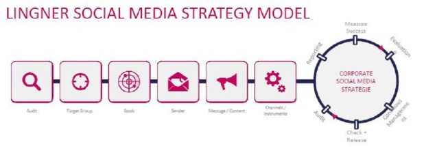 Social Media Strategie, Lingner Strategiepfeil