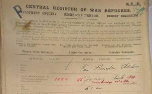 War Refugee Document